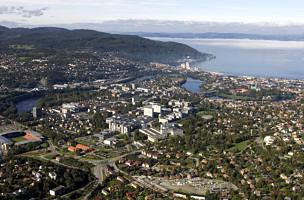 Luftbild Uni Trondheim